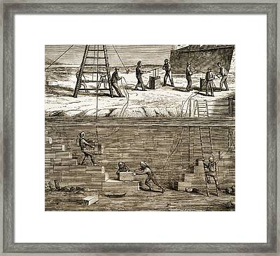 Underwater Construction C.1850 Framed Print by Sheila Terry