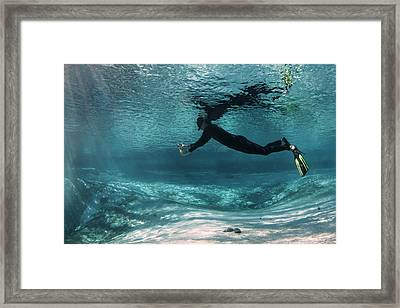 Underwater Photography Framed Print by Michael Szoenyi