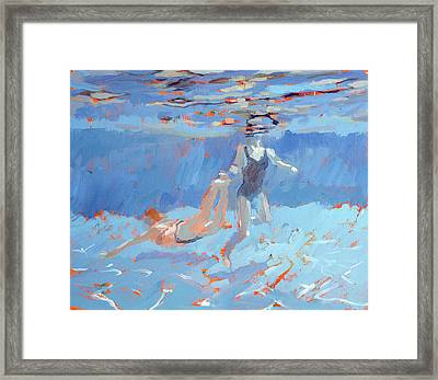 Underwater  Framed Print by Sarah Butterfield