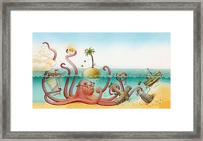 Underwater Story 06 Framed Print by Kestutis Kasparavicius
