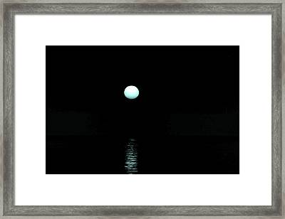 Underwater Sunset Framed Print by Max Mullins