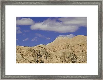 Undulating Mudstone Hills Near Fonts Framed Print by Ellen Thane