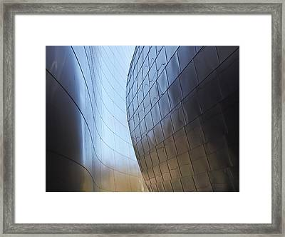 Undulating Steel Framed Print by Rona Black