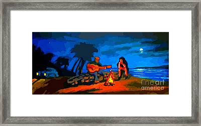 Unexpected Guests Arriving Framed Print by John Malone