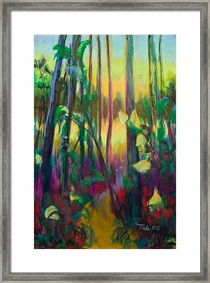 Unexpected Path - Through The Woods Framed Print by Talya Johnson
