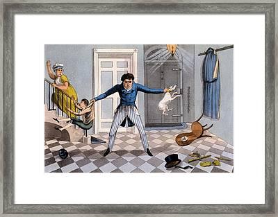 Unfeelingness - Advice To A Man Framed Print by Daniel Thomas Egerton