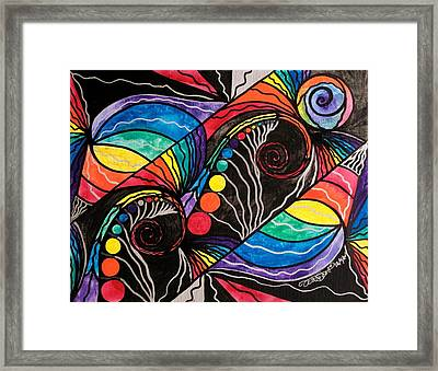 Unfold Framed Print by Teal Eye  Print Store