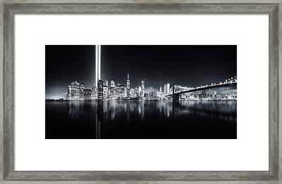 Unforgettable 9-11 Framed Print by Javier De La