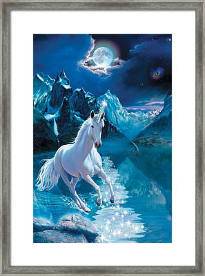 Unicorn Framed Print by Andrew Farley