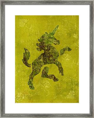 Unicorn Fresco Framed Print by Sarah Vernon
