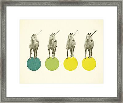 Unicorn Parade Framed Print by Cassia Beck