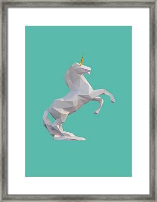 Unicorn Framed Print by Pollyanna Illustration