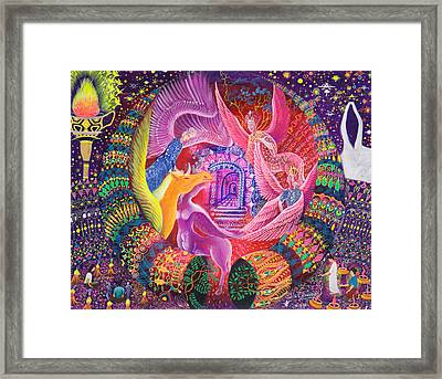 Unicornio Dorado Framed Print by Pablo Amaringo