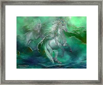 Unicorns Of The Sea Framed Print by Carol Cavalaris