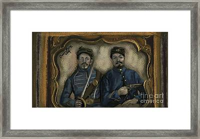 Unidentified Union Soldiers Framed Print by Carrie Joy Byrnes