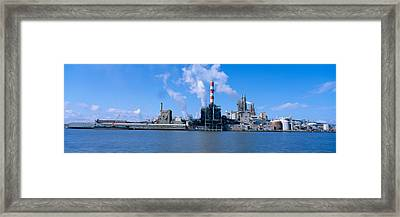 Union Camp Paper Mill, Savannah River Framed Print by Panoramic Images