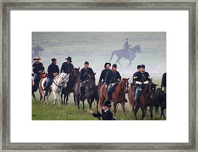 Union Cavalry On The March - Perryville Ky Framed Print by Thia Stover