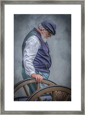 Union Civil War Soldier The Veteran  Framed Print by Randy Steele