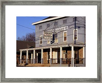 Union Hotel Framed Print by Skip Willits
