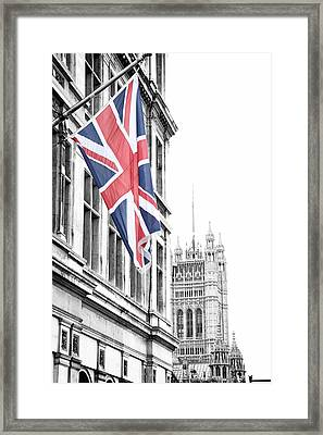 Union Jack Framed Print by Nancy Ingersoll