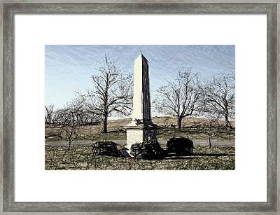 Union Memorial Stone - Perryville Ky Framed Print by Thia Stover