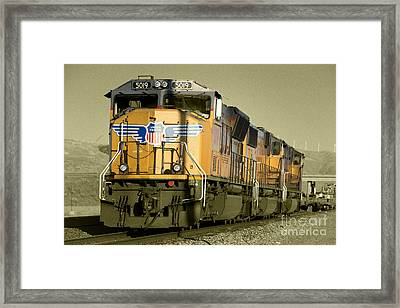 Union Pacific  Framed Print by Rob Hawkins