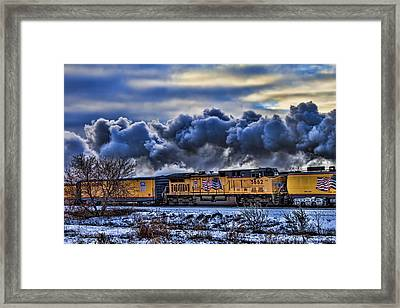 Union Pacific Train Framed Print by Jeff Swanson