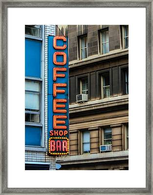 Union Square Coffee Shop Sign Framed Print by Jon Woodhams