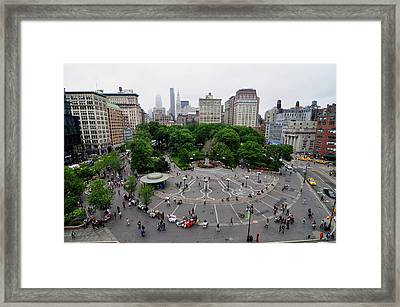 Union Square, N.y.c Framed Print by Georgia Fowler
