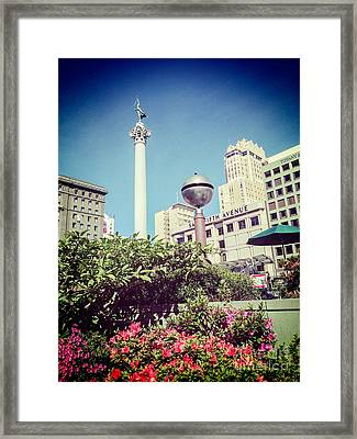 Union Square San Francisco Framed Print by Colin and Linda McKie