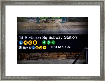 Union Square Subway Station Framed Print by Susan Candelario