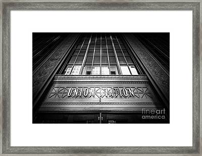 Union Station Chicago In Black And White Framed Print by Paul Velgos