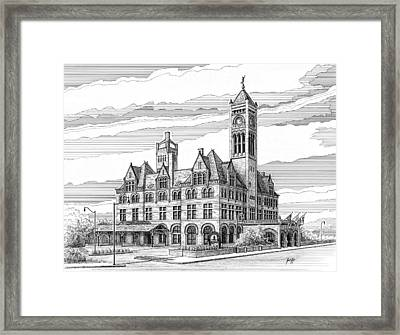 Union Station In Nashville Tn Framed Print by Janet King