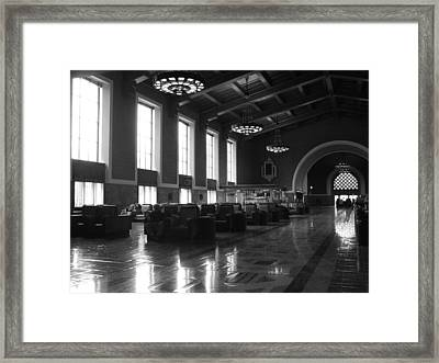 Union Station Los Angeles Framed Print by Jim McCullaugh