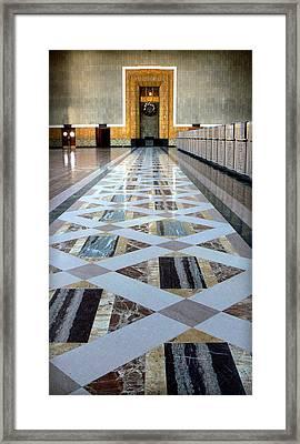 Union Station Ticket Counter Framed Print by Karyn Robinson