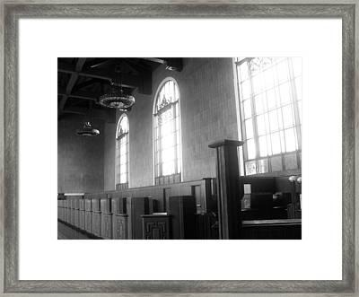 Union Station Ticketing Room Framed Print by Karyn Robinson