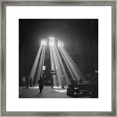 Union Station Waiting Room Framed Print by Library Of Congress