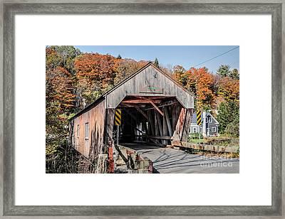 Union Village Covered Bridge Thetford Vermont Framed Print by Edward Fielding