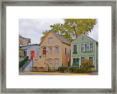 Unique Old Town Chicago Framed Print by Christine Till