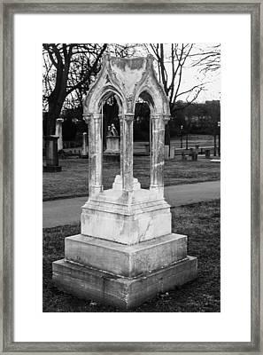 Unique Tombstone Framed Print by Robert Hebert