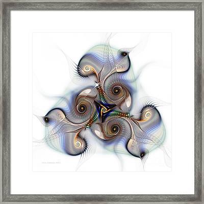 Unison Fractal Art Framed Print by Karin Kuhlmann