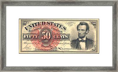 United Stated 50 Cents Framed Print by Lanjee Chee