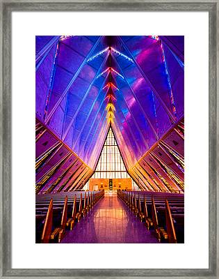 United States Air Force Academy Protestant Cadet Chapel Framed Print by Alexis Birkill