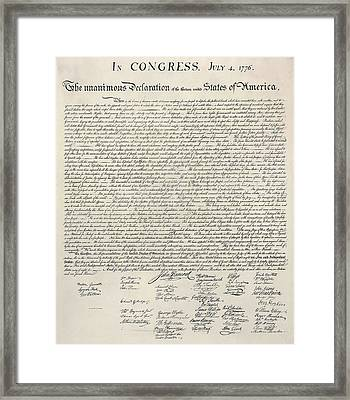 United States Bill Of Rights Framed Print by Charles Beeler