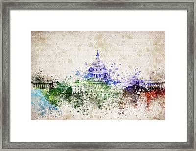 United States Capitol Framed Print by Aged Pixel