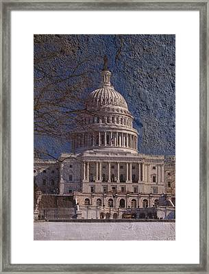 United States Capitol Framed Print by Skip Willits