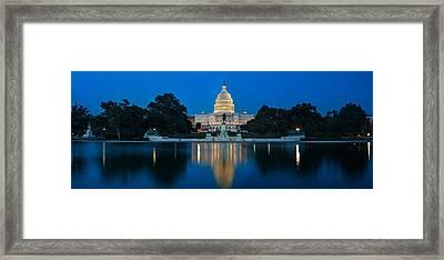 United States Capitol Framed Print by Steve Gadomski