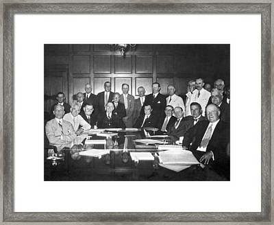 United States Industry Leaders Framed Print by Underwood Archives