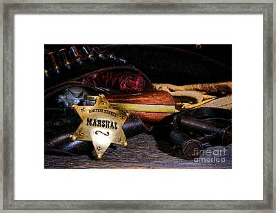 United States Marshall Shield  Framed Print by Olivier Le Queinec