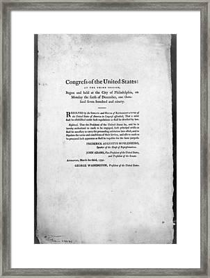 United States Mint, 1792 Framed Print by Granger